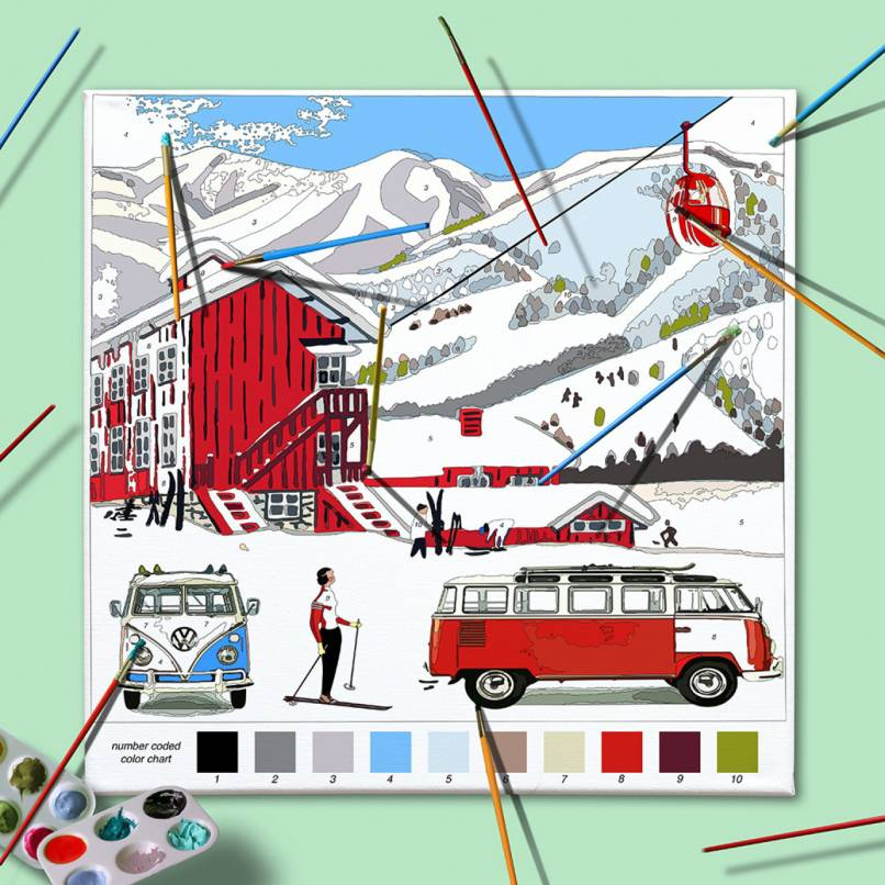 Paint by Numbers; VW Bus