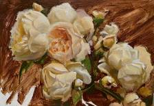 Summer Roses in Peach & Cream #1 - Mary Sauer