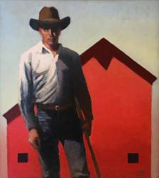 Man with Red Barn