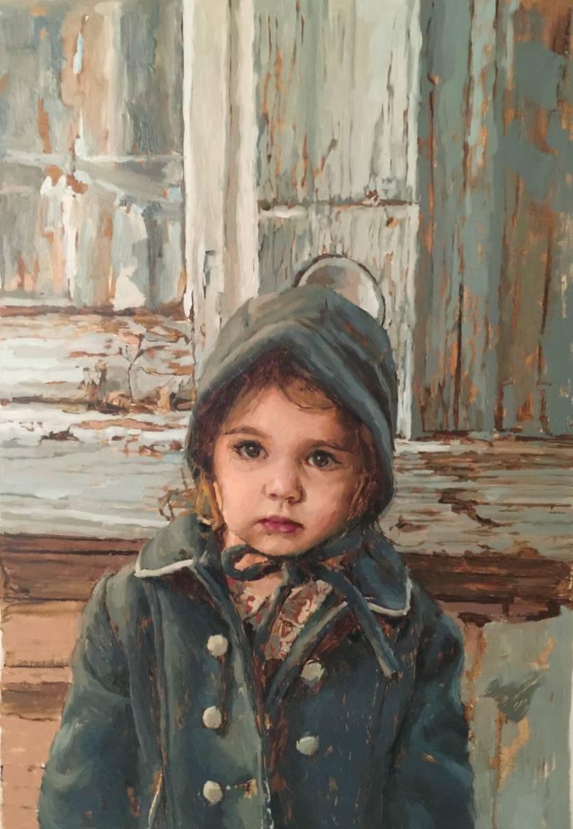 Portrait in a Vintage Coat